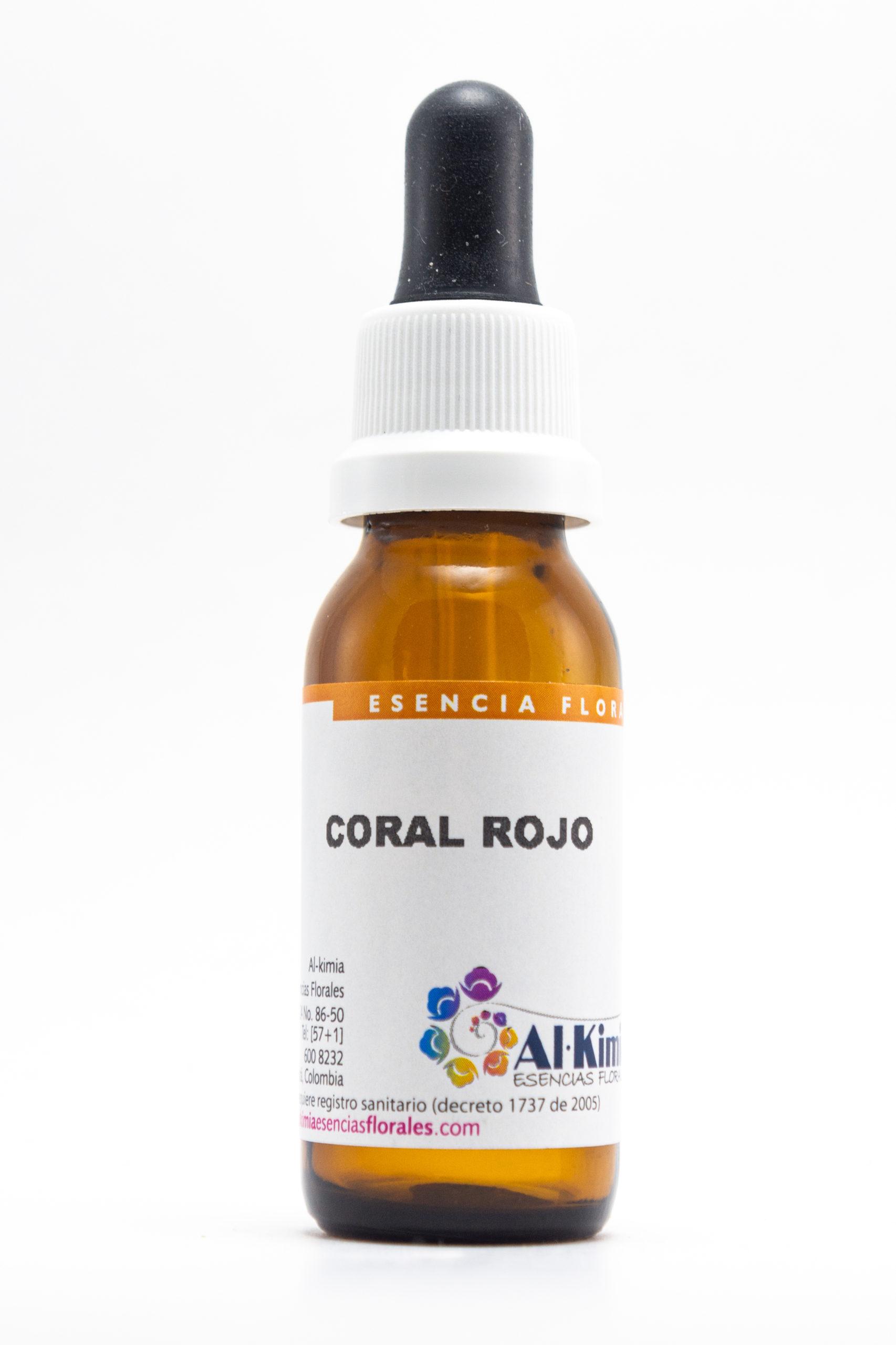 Coral Rojo Botella Stock