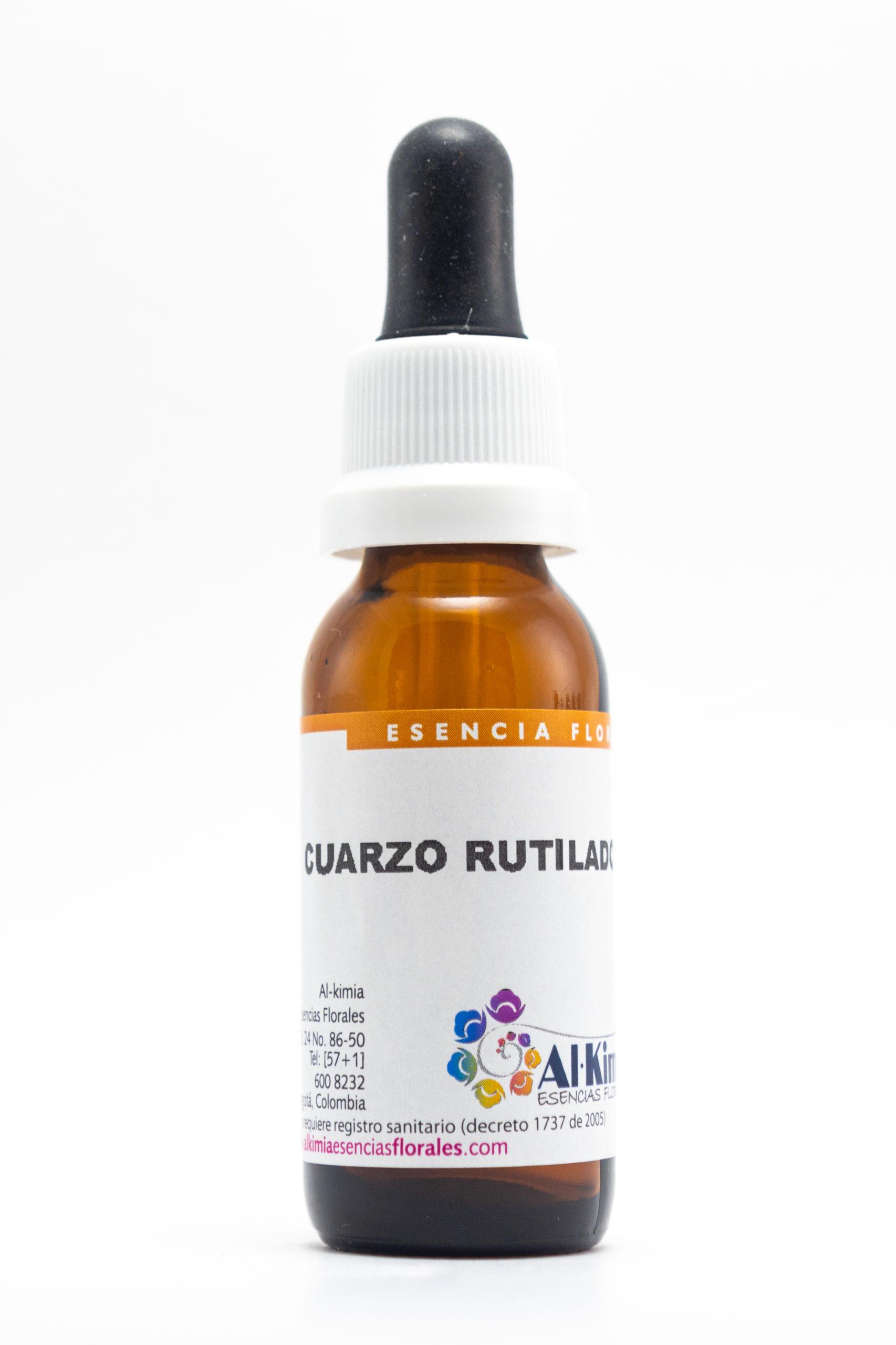Cuarzo Rutilado Botella Stock