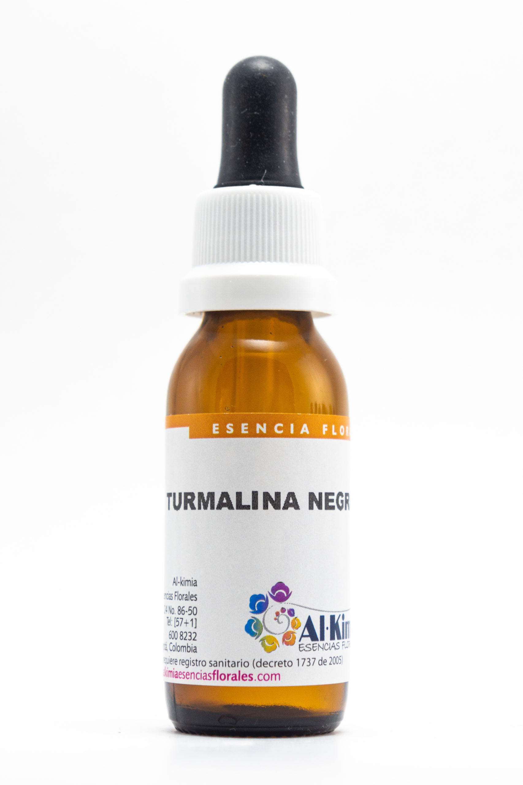 Turmalina negra Botella Stock